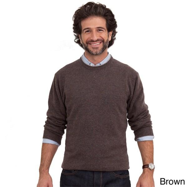 Luigi Baldo Italian Made Mens Cashmere Crew Neck Sweater