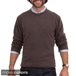 Luigi Baldo Italian Made Men's Cashmere Crew Neck Sweater