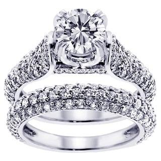 14k/ 18k Gold or Platinum 4 1/2ct TDW Round Diamond Bridal Ring Set (F-G, SI1-SI2)