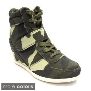 Blue Children's 'K-Ryker' Camo Wedge Sneakers