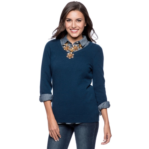 Enzo Mantovani Women's Cashmere V-Neck Sweater - Free Shipping ...
