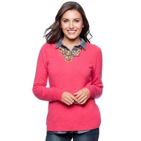 Enzo Mantovani Women's Cashmere V-Neck Sweater