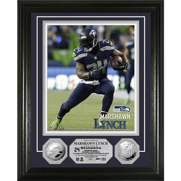 Seattle Seahawks Marshawn Lynch Silver Coin Photo Mint