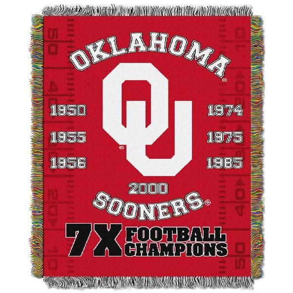 NCAA University of Oklahoma Sooners School Tapestry Throw