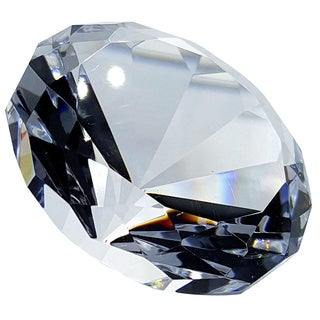 Crystal Florida Crystal Diamond Paperweight