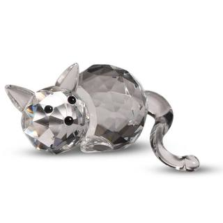 Crystal Florida Crystal Fatty Cat Figurine