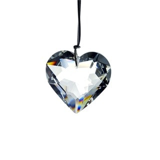 Crystal Florida Multi-faceted Crystal Hanging Heart