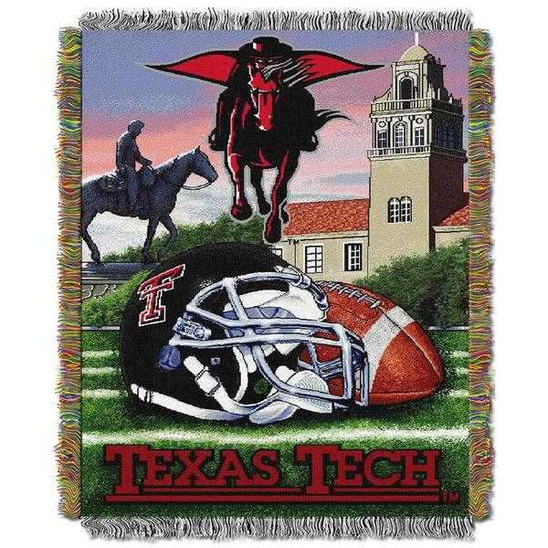 NCAA Texas Tech University Red Raiders School Tapestry Throw