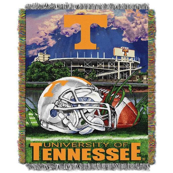 NCAA University of Tennessee Volunteers School Tapestry Throw