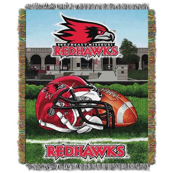NCAA Southeast Missouri State University Redhawks School Tapestry Throw
