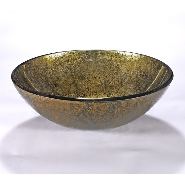 Gold/ Green Glass Sink Bowl - Free Shipping Today - Overstock.com ...