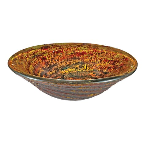 Red/ Orange Glass Sink Bowl