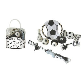 Pet Life 8-piece Soccer Theme Dog Toy Set