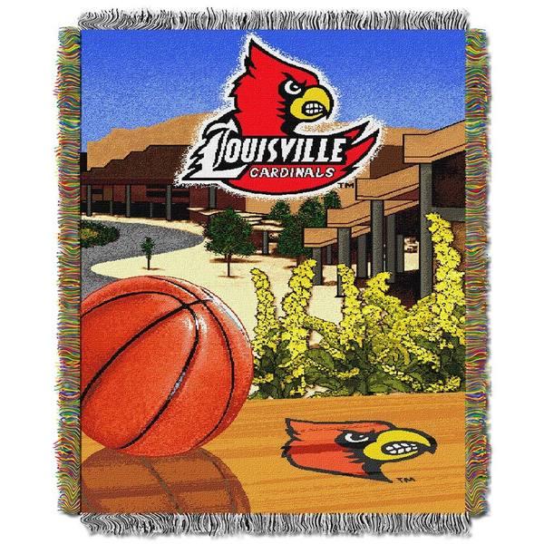 NCAA University of Louisville Cardinals School Tapestry Throw
