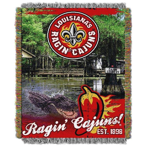 NCAA University of Louisiana at Lafayette Ragin' Cajuns School Tapestry Throw