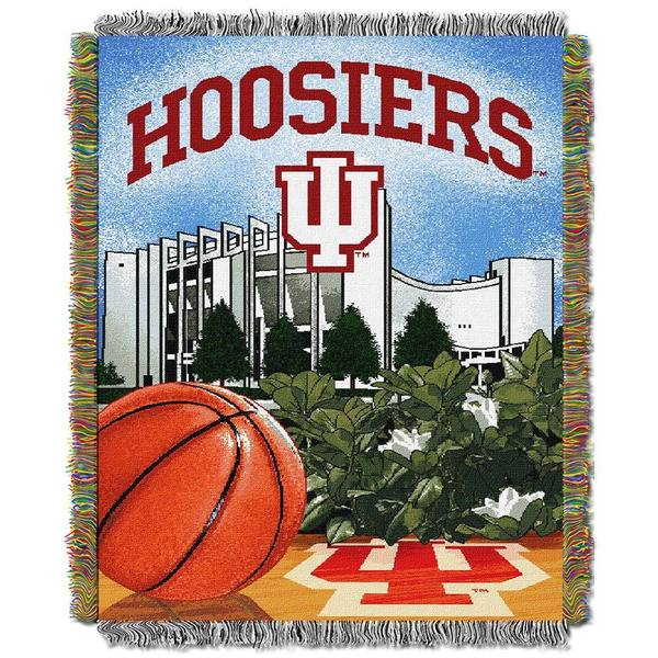 NCAA Indiana University Bloomington Hoosiers School Tapestry Throw