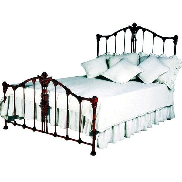 Shop Corsican Red Iron Savannah Queen Size Bed Free