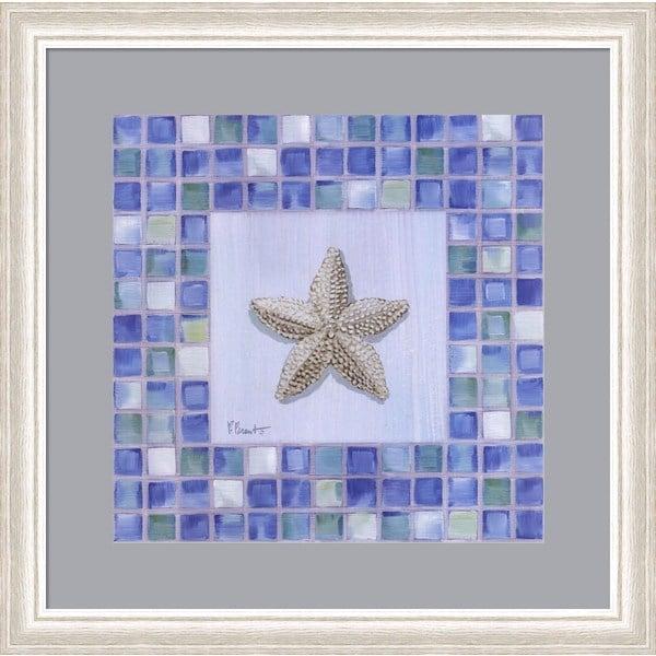 Paul Brent 'Mosaic Starfish' Framed Art