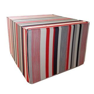 Sage Stripe Ottoman