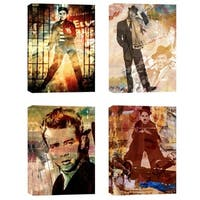 Ready2HangArt 'Legends' 4-piece Canvas Wall Art