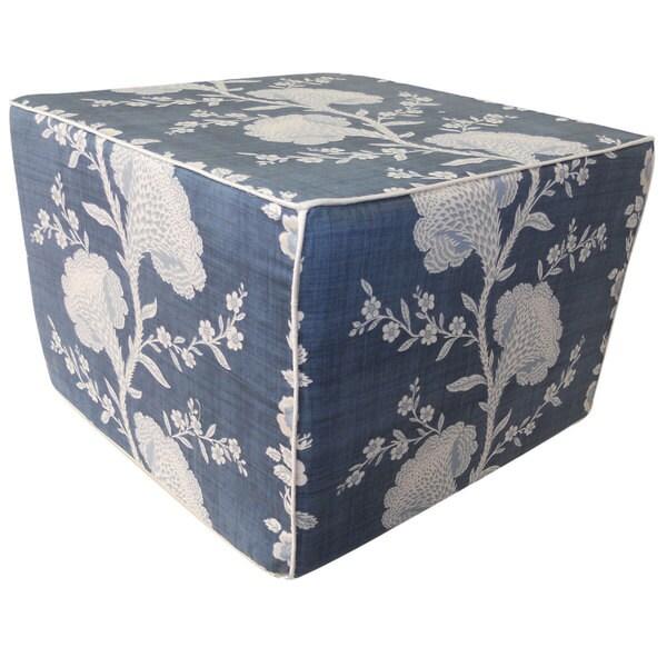 Slate Blue Geisha Ottoman