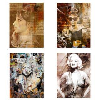 Ready2HangArt 'Divas' 4-piece Canvas Wall Art