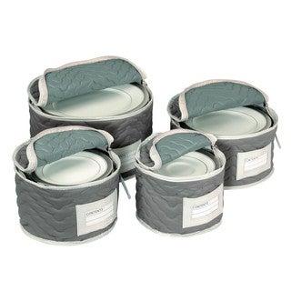 Richards Homewares Deluxe Microfiber Plate Storage Case (Set of 4)