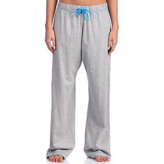 Leisureland Women's Grey Cotton Knit Pajama Pants