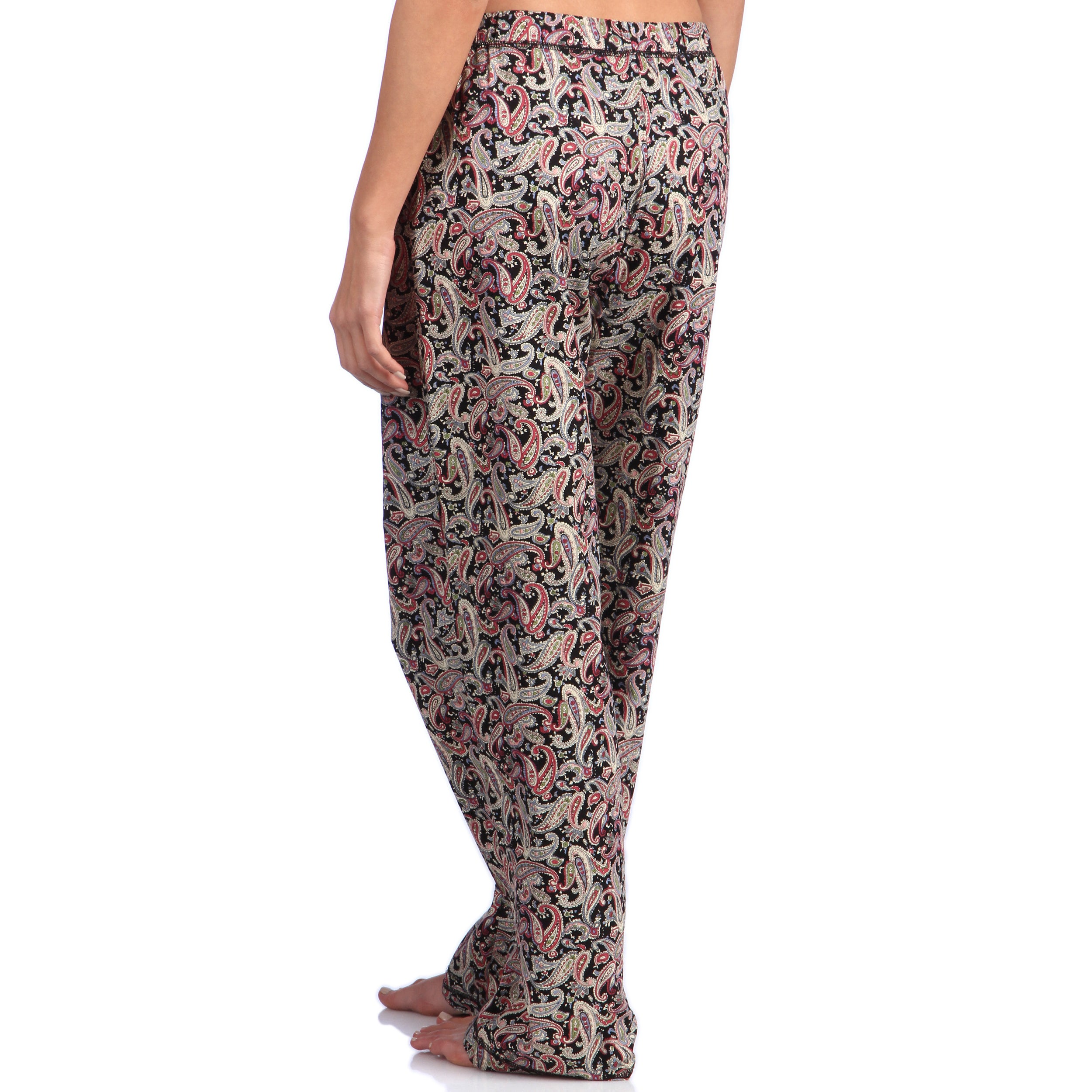 baea30ae2 Shop Leisureland Women's Paisley Print Cotton Poplin Black Pajama Pants -  Free Shipping On Orders Over $45 - Overstock - 8458530 - Medium