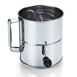 Cook N Home Stainless Steel 8-cup Flour Sifter