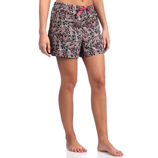 Leisureland Women's Paisley Print 100 Percent Cotton Poplin Pajama Pants