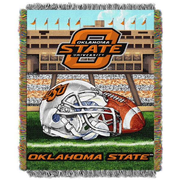 Oklahoma State University Tapestry Throw