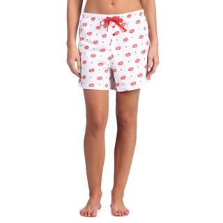 Leisureland Women's Smooch Lips Cotton Knit Boxer Shorts (2 options available)