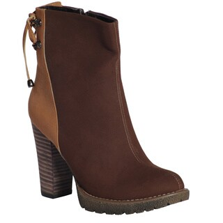 Ann Creek Women's 'Charleston' Stacked Heel Ankle Boots