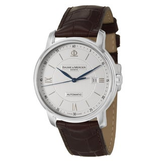 Baume and Mercier Men's 'Classima Executives' Stainless Steel Swiss Automatic Watch|https://ak1.ostkcdn.com/images/products/8458633/P15751092.jpg?_ostk_perf_=percv&impolicy=medium