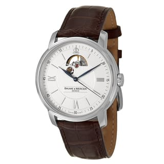 Baume and Mercier Men's 'Classima Executives' Stainless Steel Swiss Automatic Watch|https://ak1.ostkcdn.com/images/products/8458637/P15751112.jpg?impolicy=medium