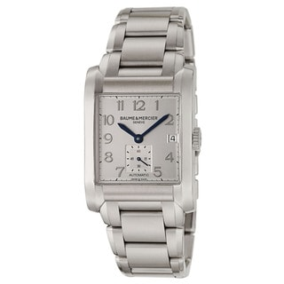 Baume and Mercier Men's 'Hampton' A10047 Water-resistant Stainless Steel Swiss Automatic Watch