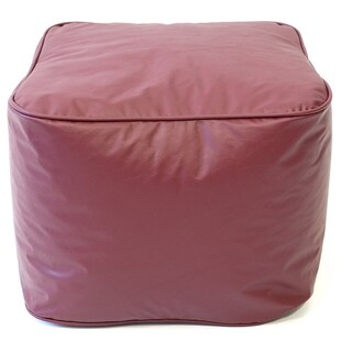 Gold Medal Leather Look Vinyl Small Ottoman