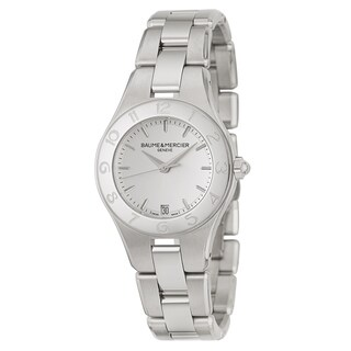 Baume and Mercier Women's 'Linea' Stainless Steel Swiss Quartz Watch