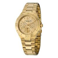 Stuhrling Original Women's Lady Capital Quartz Bracelet Watch Gold Toned