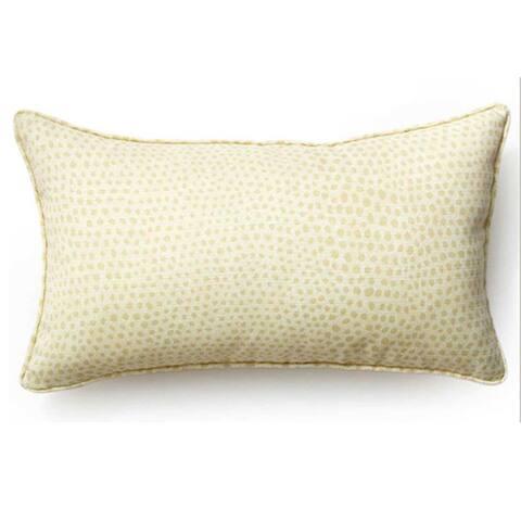 Jiti Cream Cheetah Modern Sunbrella Outdoor Throw Pillow