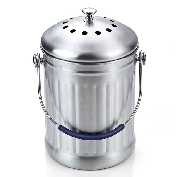 Shop Cook N Home 1 Gallon Stainless Steel Kitchen Compost ...