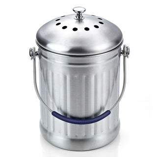 cook n home stainless steel 1gallon kitchen compost bin