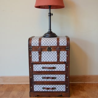 Decorative York Town Side Table with Drawers