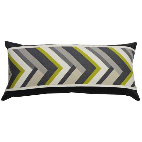 Handmade Green Vince Throw Pillow