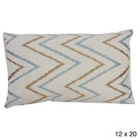 Teal and Brown Sierra Throw Pillow