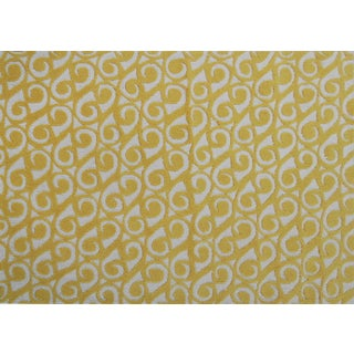 Hand-hooked Yang Yellow Area Rug (5' x 7')