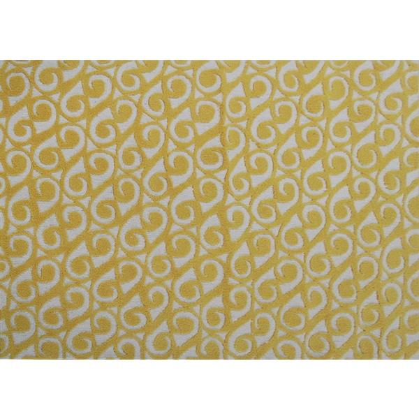 Hand-hooked Yang Yellow Area Rug (5' x 7') - 5' x 7'