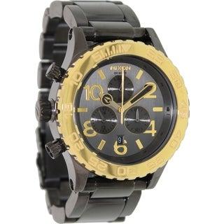 Nixon Women's Chronograph Grey Stainless Steel Quartz Watch