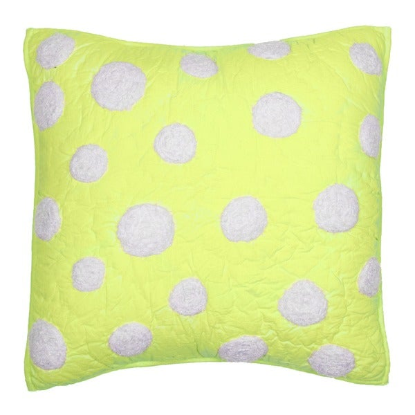 Shop Cottage Home Lime Green Dot Cotton 16 Inch Throw Pillow Free